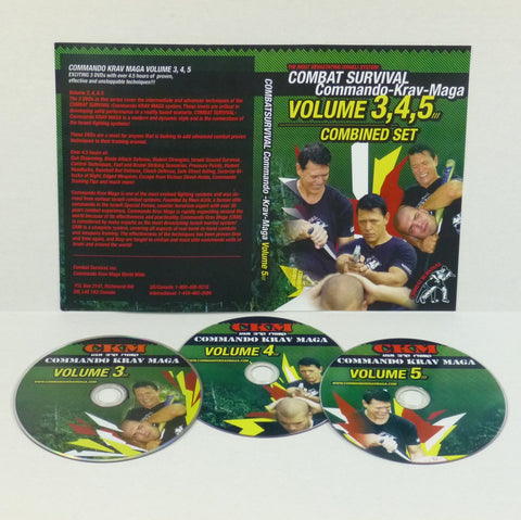 COMBAT SURVIVAL Commando Krav Maga System Levels 3-5 DVD Set with Moni Aizik - Budovideos