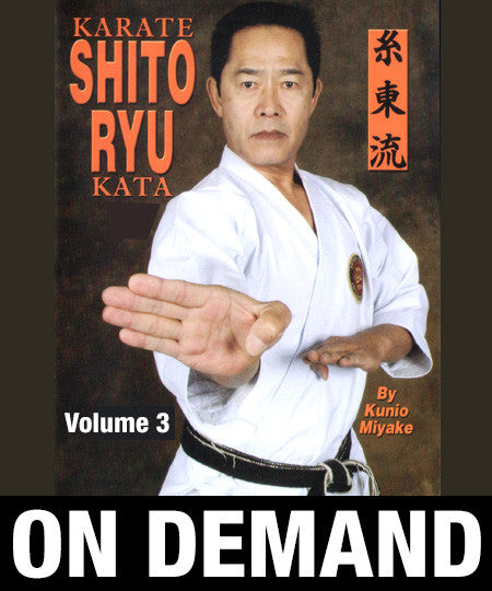 Karate Shito Ryu Kata Vol 3 by Kunio Miyake (On Demand) - Budovideos