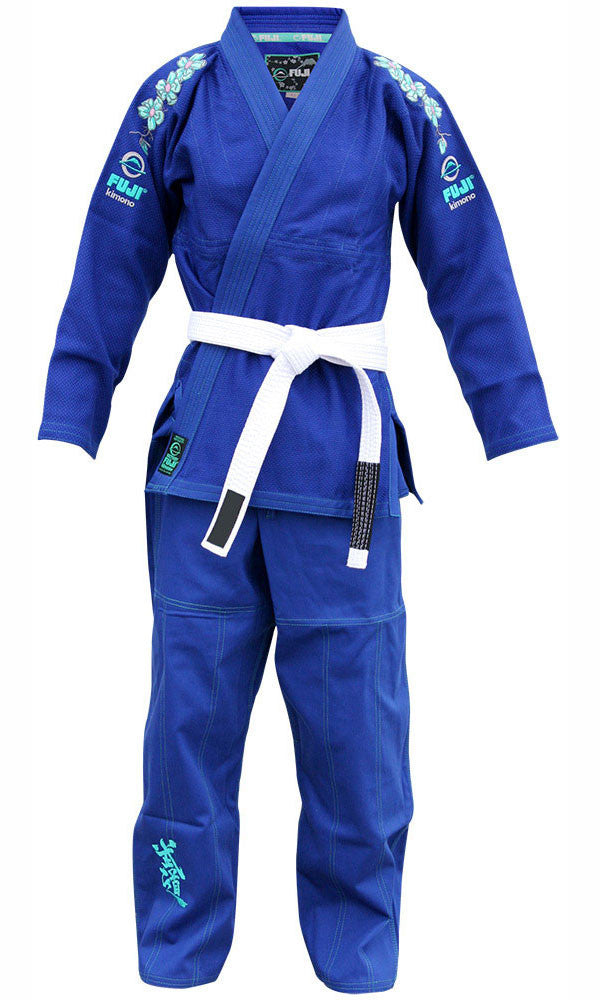 Front - Kid's Blue Blossom BJJ Gi by Fuji