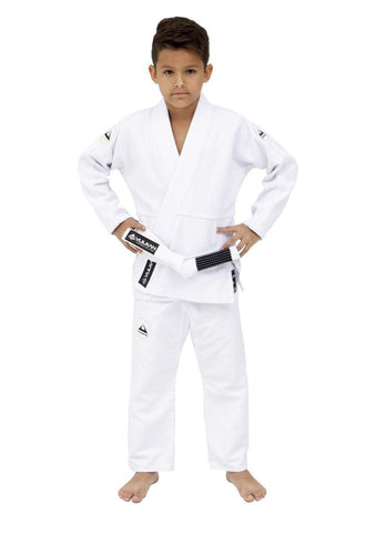 Vulkan Ultra Light Neo Kids iu Jitsu Gi - White - Budovideos Inc