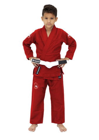 Vulkan Ultra Light Neo Kids Jiu Jitsu Gi - Red - Budovideos