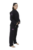 Women's Pro Evolution  BJJ Gi - Black - Budovideos