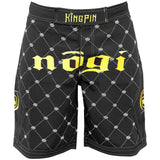 Kingpin 2.0 Black and Gold MMA Fight Shorts LE