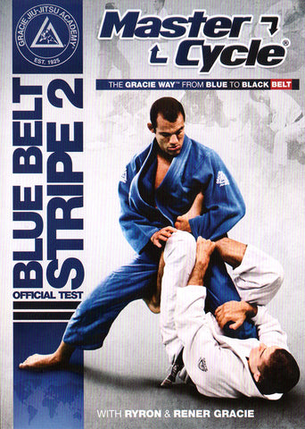 DVD Cover - Gracie Academy Master Cycle: Blue Belt Stripe 2 DVD Official Test