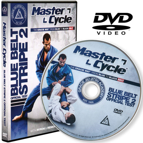 Main Graphic - Gracie Academy Master Cycle: Blue Belt Stripe 2 DVD Official Test