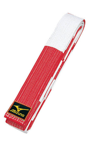 Mizuno Red & White Belt - Budovideos Inc