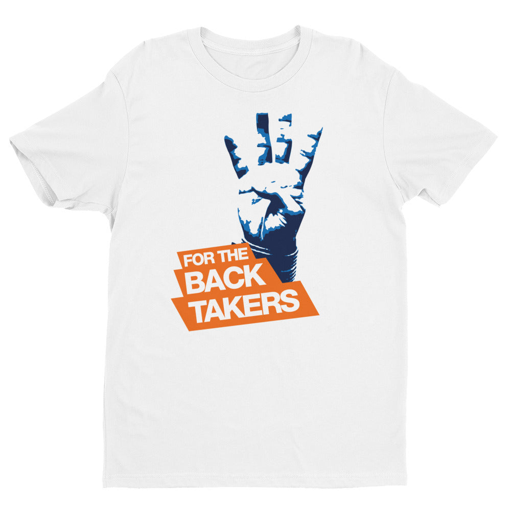 4 points for the Back For the Back Takers Short Sleeve Brazilian Jiu Jitsu T-shirt - Budovideos