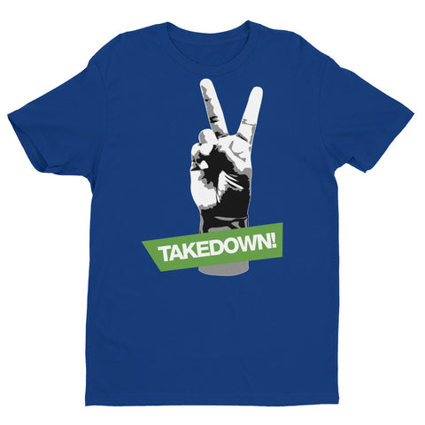 2 points for the takedown Short Sleeve Brazilian Jiu Jitsu T-shirt various colors - Budovideos