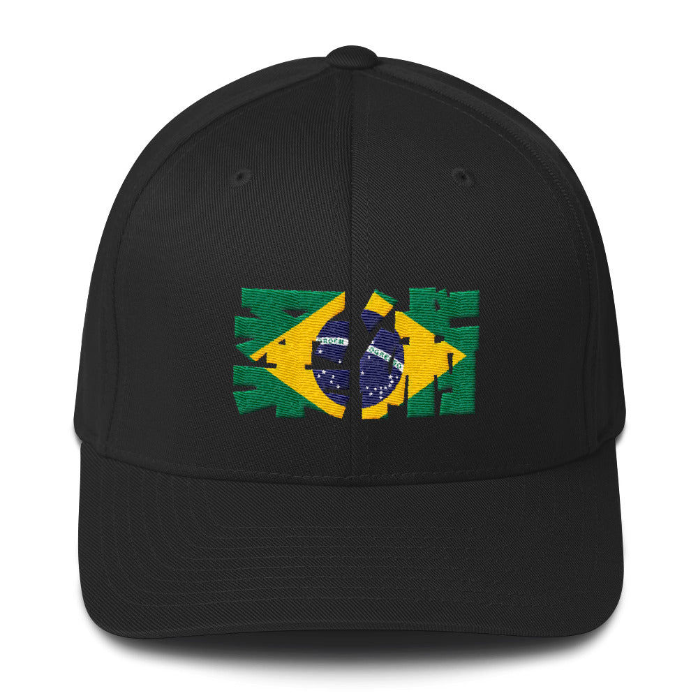 Jiu Jitsu De Brazil Flex Fit Structured Twill Cap