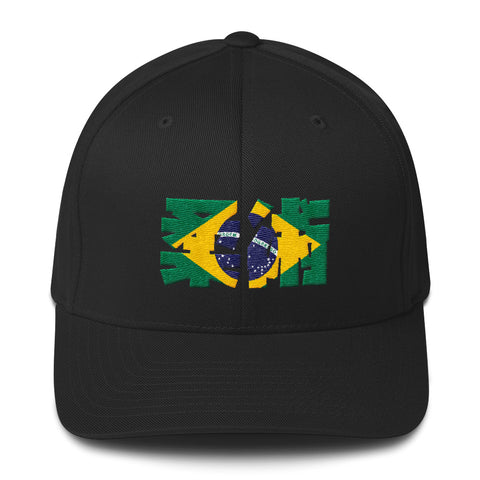Jiu Jitsu De Brazil Flex Fit Structured Twill Cap - Budovideos Inc