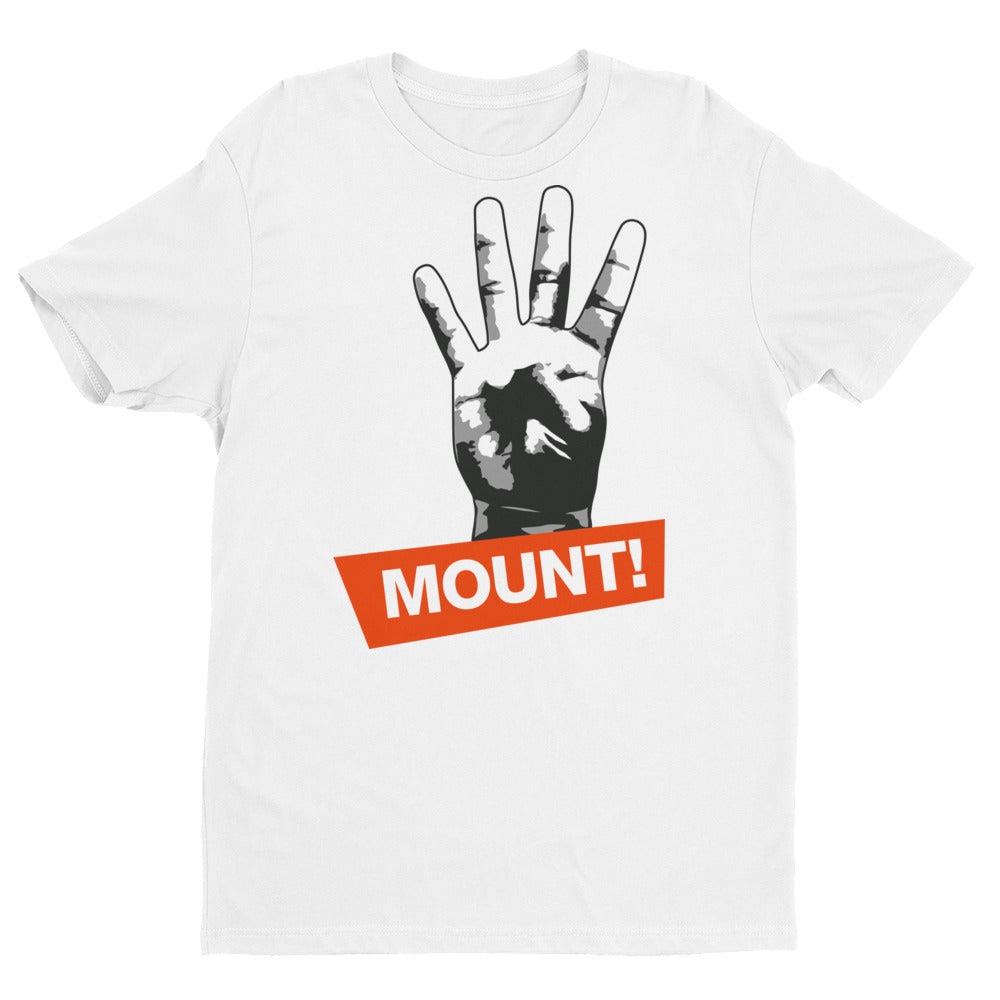 4 points for the Mount Short Sleeve Brazilian Jiu Jitsu T-shirt - Budovideos