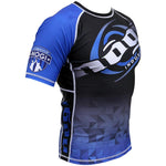 Velox 2018 Competitor Rank Short Sleeve Rashguard White, Blue, Purple, Brown and Black - Budovideos