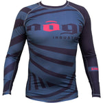 Exeter Long Sleeve Rank Rashguard White, Blue, Purple, Brown and Black - Budovideos