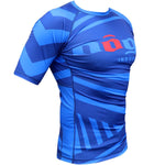 Exeter Short Sleeve Rank Rashguard White, Blue, Purple, Brown and Black - Budovideos