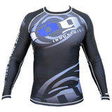 Carbon Long Sleeve Rashguard by Nogi Industries - BLACK - Budovideos