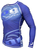 Carbon Long Sleeve Rashguard by Nogi Industries - NAVY - Budovideos