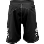 Phantom 3.0 Fight Shorts - Black by Nogi Industries Made in the USA - Back View