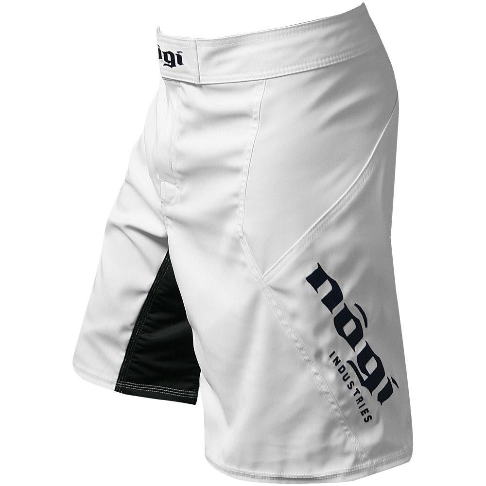 Phantom 3.0 Fight Shorts - Arctic White by Nogi Industries - MADE IN USA - Limited Edition - Budovideos