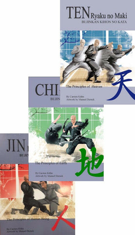 Ten Jin Chi Ryaku no Maki 3 Bujinkan Ninjutsu Book Set by Carsten Kuhn