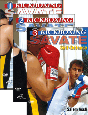 Kickboxing Savate 3 DVD Set by Salem Assli - Budovideos Inc