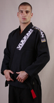 Ultra Light Jiu-Jitsu Gi by Vulkan - Black - Budovideos