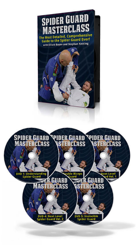 DVD Cover - Spider Guard Masterclass 5 DVD Set with Elliot Bayev & Stephan Kesting