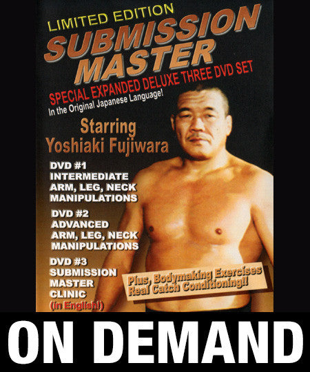 Submission Master 3 Volume Set by Yoshiaki Fujiwara (On Demand)