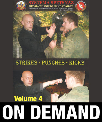 Systema Spetsnaz Vol 4 Strikes - Punches - Kicks by Vadim Starov (On Demand) - Budovideos