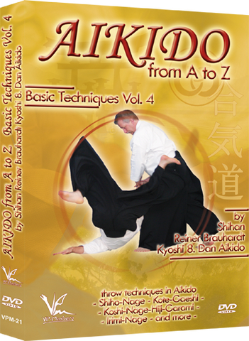 Aikido from A to Z Basic Techniques DVD 4 by Reiner Brauhardt - Budovideos Inc