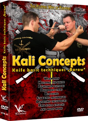 Kali Concepts Baraw Knife Basic Techniques DVD - Budovideos Inc