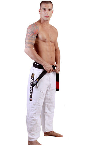 Vulkan White Pro Light Jiu-jitsu Pants - Budovideos