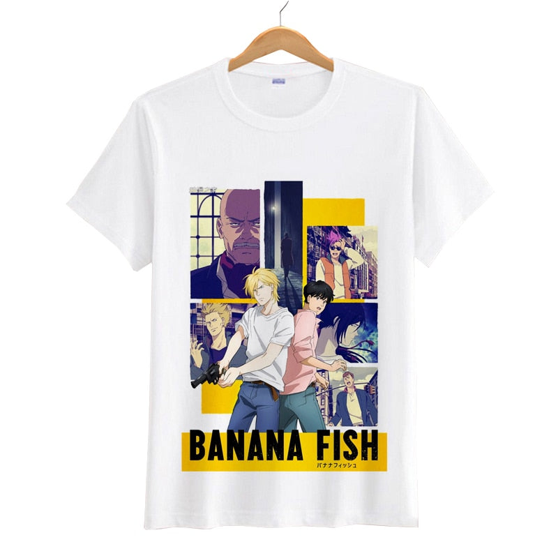 ANIMEWORLD Banana Fish Women Men Cartoon T Shirts Short Sleeves