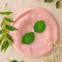 Peach Felted Beret