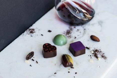 Chocolats et accords vins