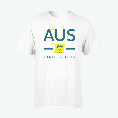 AOC Canoe Slalom Adults White Supporter Tee