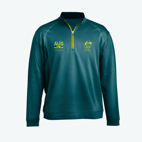 AOC Canoe Slalom Adults Green Elite Supporter Top