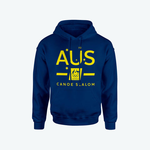 AOC Canoe Slalom Adults Navy Supporter Hoodie
