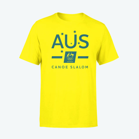 AOC Canoe Slalom Adults Gold Supporter Tee