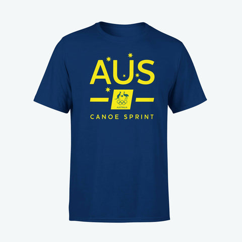 AOC Canoe Sprint Adults Navy Supporter Tee