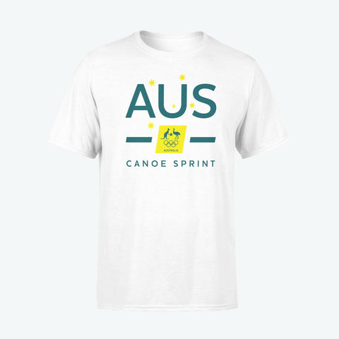 AOC Canoe Sprint Adults White Supporter Tee