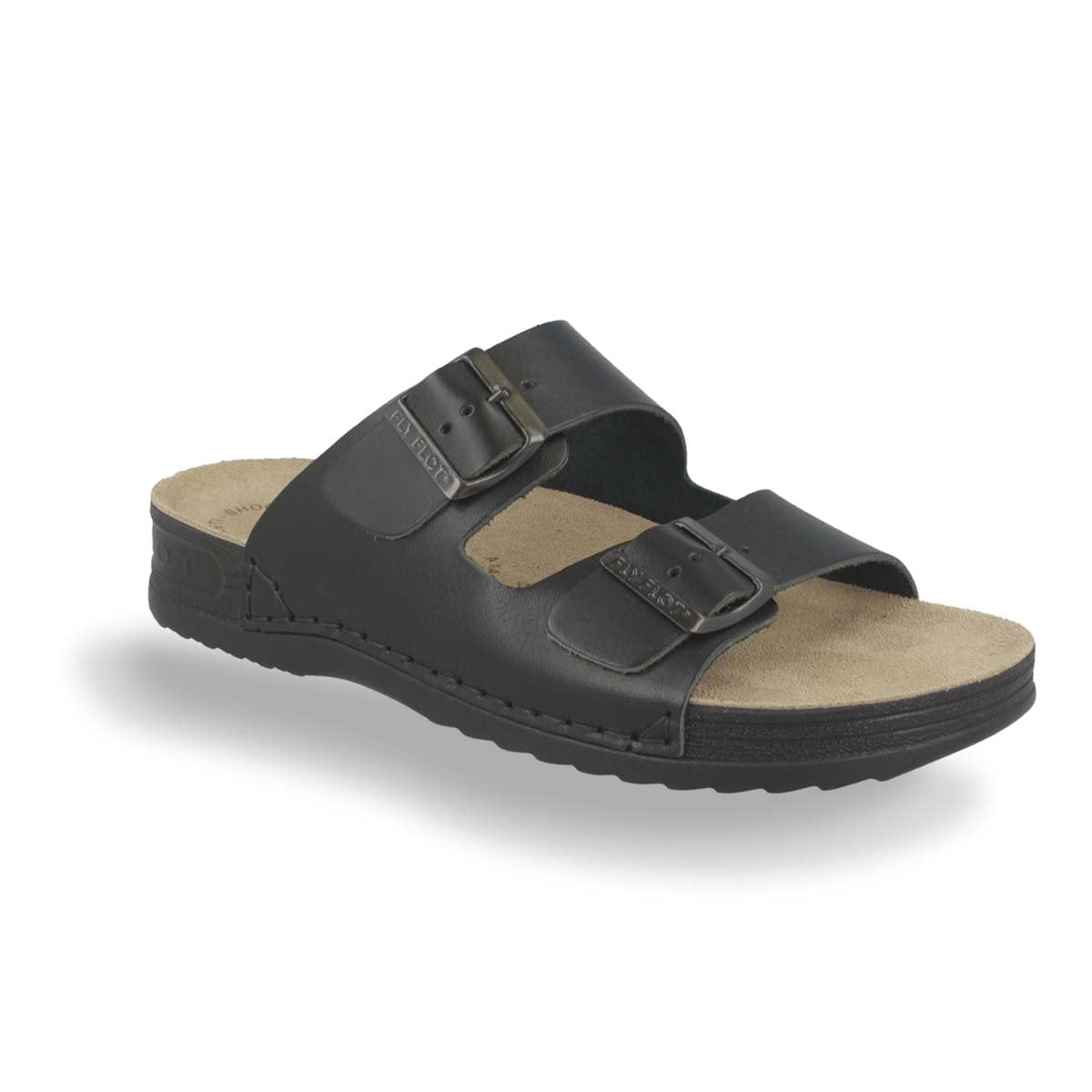 Photo of the Leather Man Slipper Black (40035xv)