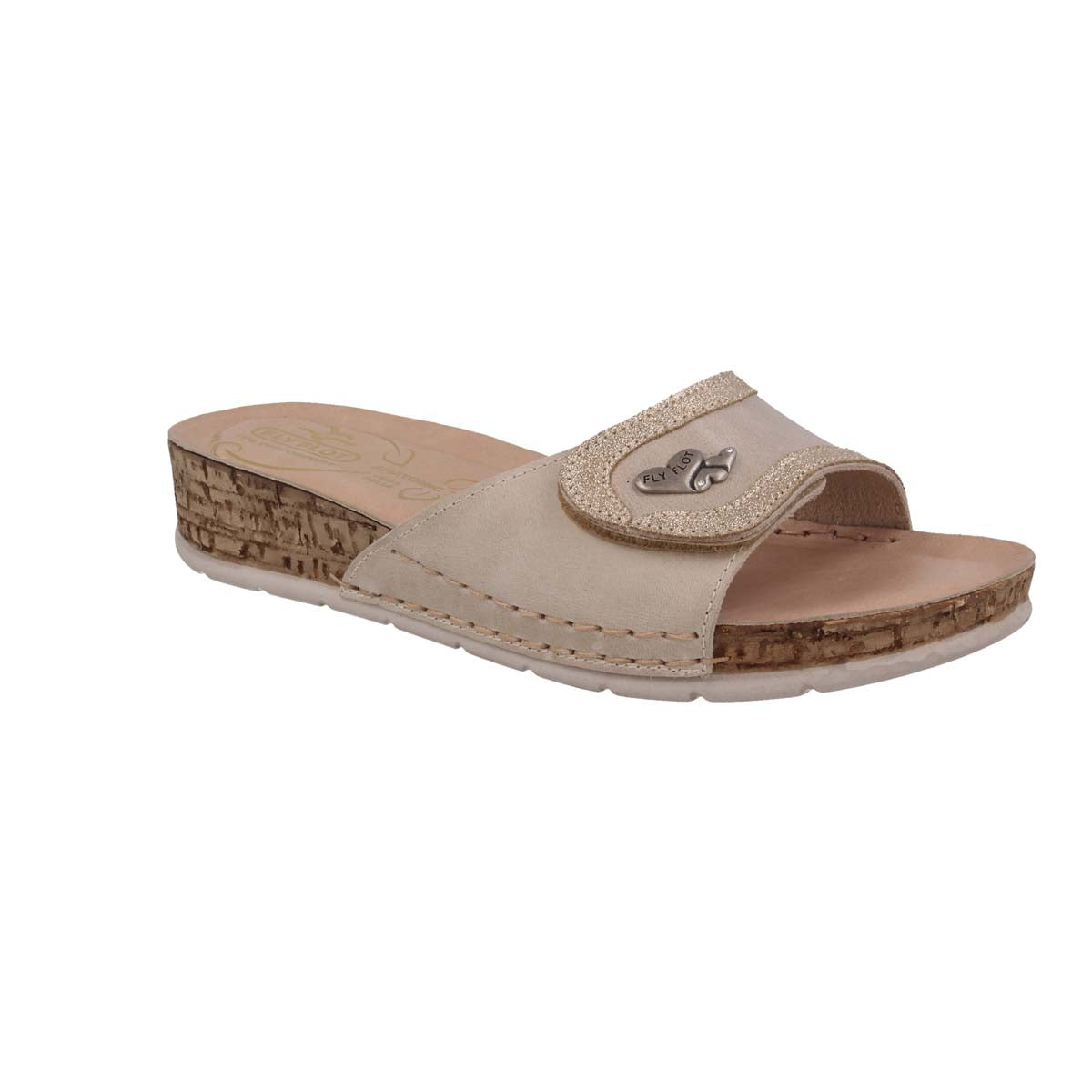 See photos Leather Woman Slipper Beige (15A40GG)