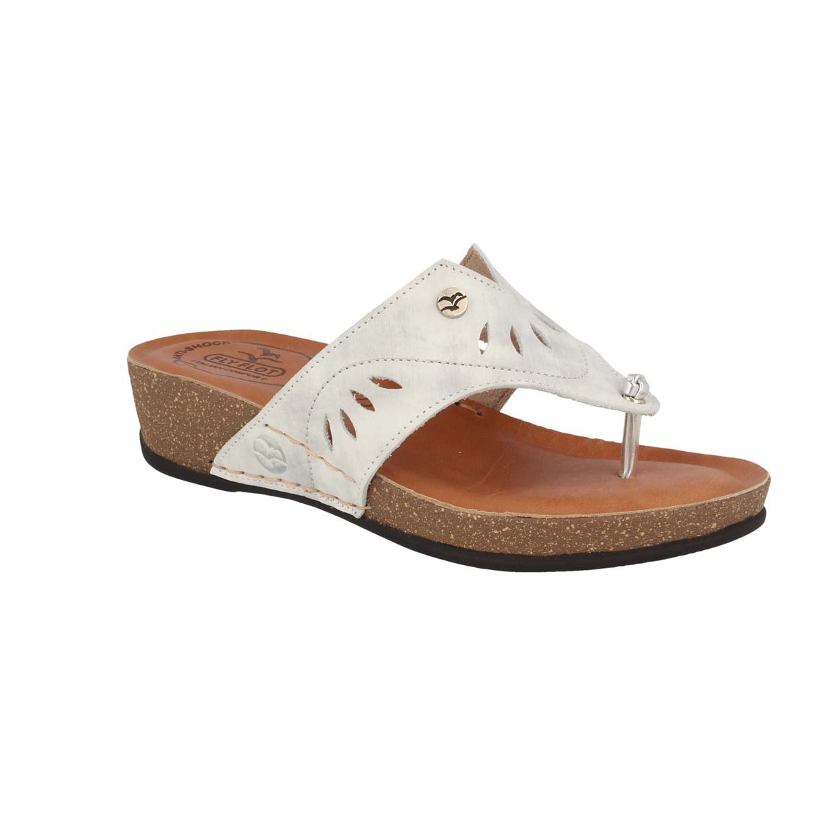 See photos Leather Woman Slipper White (23137PG)