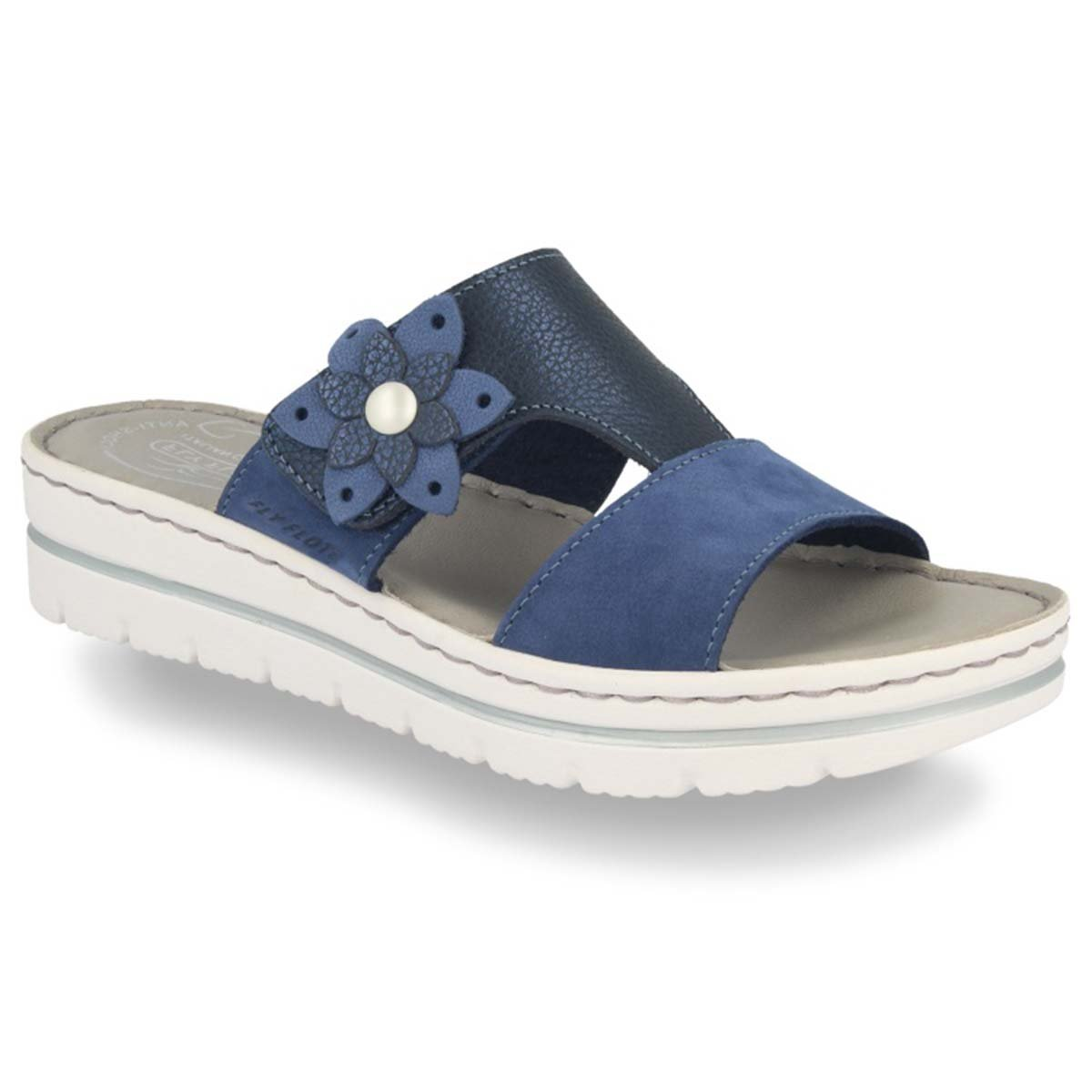 See photos Leather Woman Slipper Blue (25D283G)