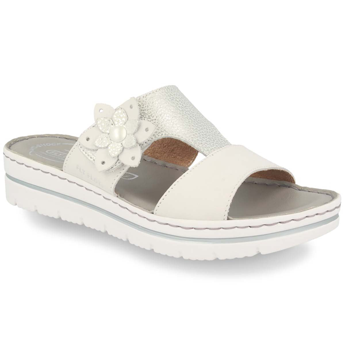 See photos Leather Woman Slipper White (25D283G)