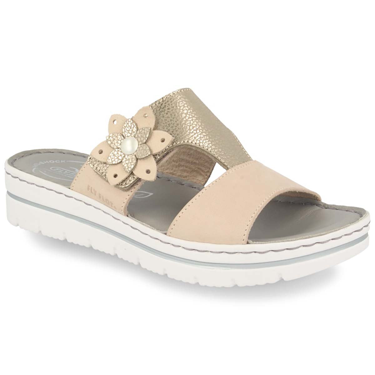 See photos Leather Woman Slipper Beige (25D283G)