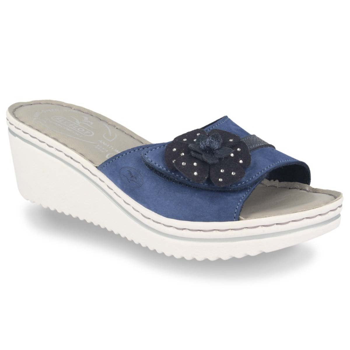 See photos Leather Woman Slipper Blue (41D433G)
