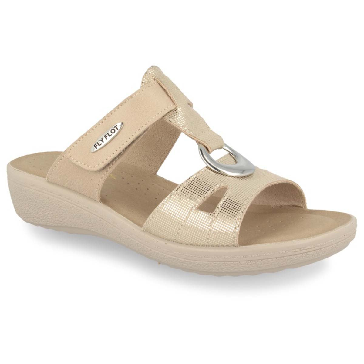 See photos Cloth Woman Slipper Beige (55B47IB)