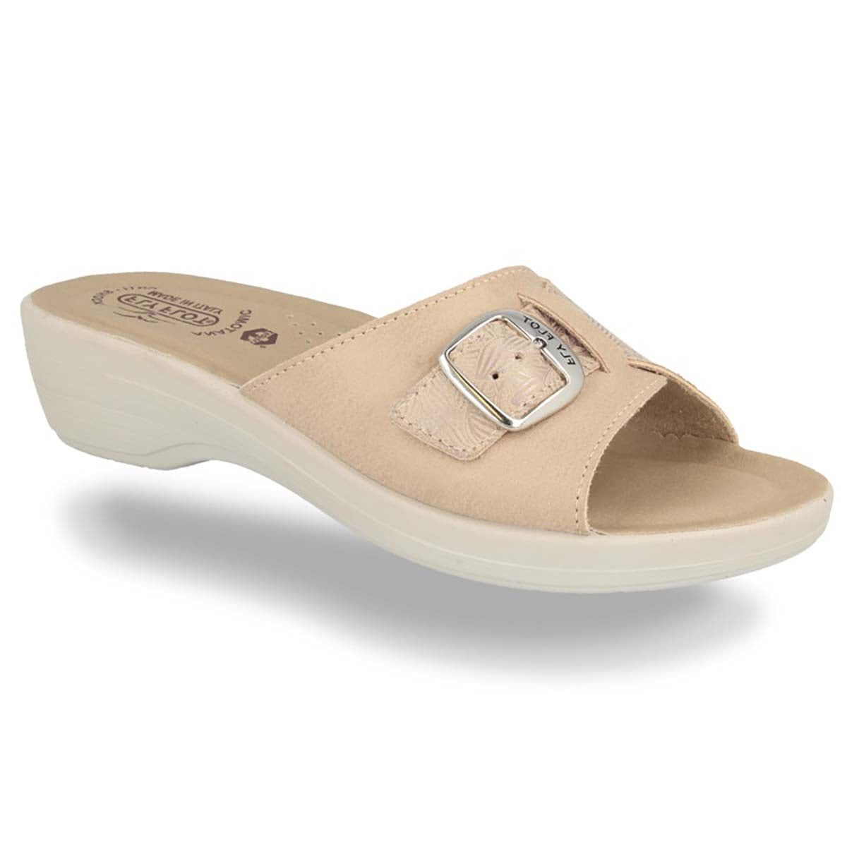 See photos Cloth Woman Slipper Beige (T5C32MB)