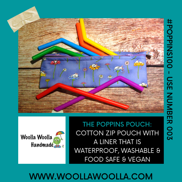 Rainbow Space Rocket LZ - Long Zip Straw/Cutlery Poppins Pouch